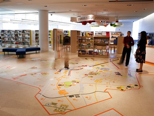 stonres rtz flooring in library